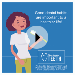 Good dental habits are important to a healthier life!